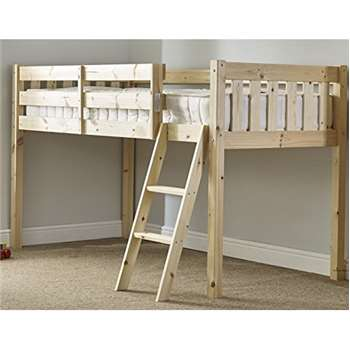Strictly Beds Avalon Cabin Bed - 3ft Single Wooden Midi Sleeper - Childrens Pine Bed