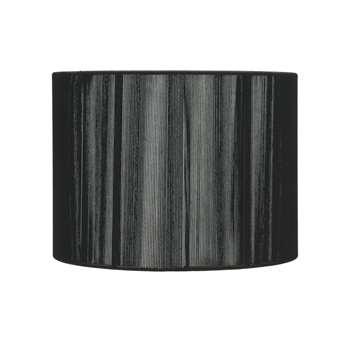 "String 12"" Pendant Light Shade Black (H25.5 x W30 x D30cm)"