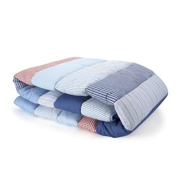 Stripe Patchwork Cotton Quilt (150 x 200cm)