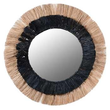 Striped Grass Mirror (Diameter 90cm)