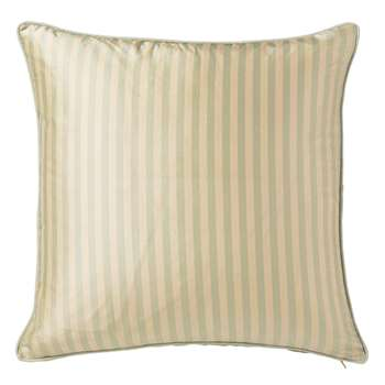 Striped Silk Cushion Cover, Large - Duck Egg (51 x 51cm)