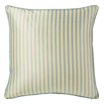 Striped Silk Cushion Cover, Large - Grey Blue (51 x 51cm)