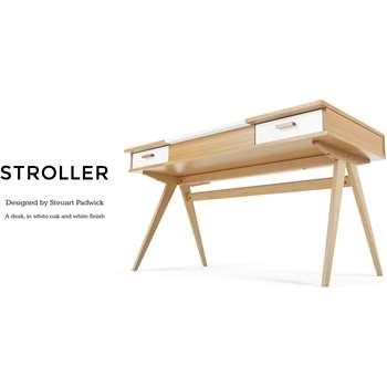 Stroller Desk, White (75 x 140cm)