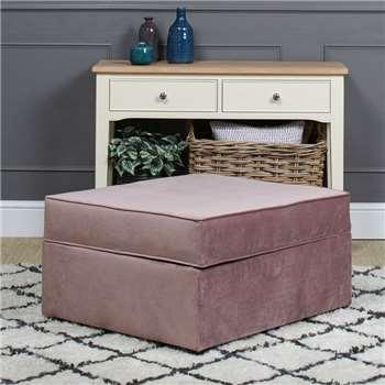 Studio Plush Velvet Footstool Bed - Lilac (H44 x W86 x D77cm)