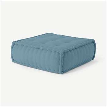 Sully Floor Cushion, Citadel Blue (H30 x W90 x D90cm)
