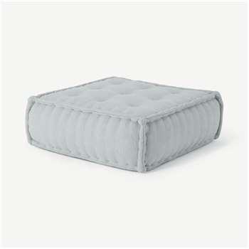 Sully Floor Cushion, Glacier Grey (H30 x W90 x D90cm)