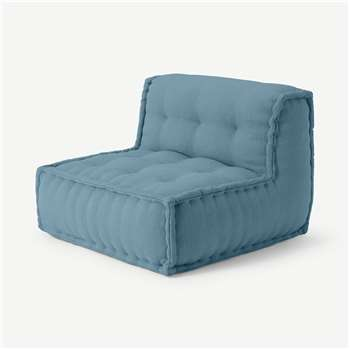 Sully Modular Floor Cushion, Citadel Blue (H70 x W90 x D90cm)