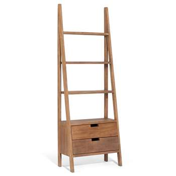 Sumatra Ladder Bookcase With Drawers
