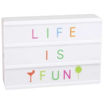 SUMMER COLOR A6 light Box with Message (10.5 x 15cm)