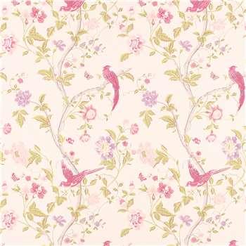 Summer Palace Cerise Floral Wallpaper
