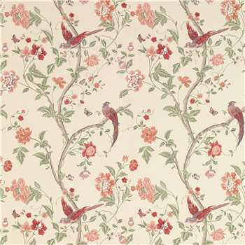 Summer Palace Cranberry Wallpaper