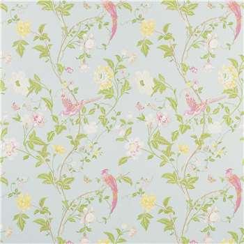 Summer Palace Duck Egg Floral Wallpaper