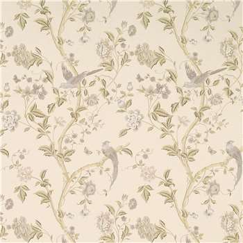 Summer Palace Taupe/Ivory Floral Wallpaper