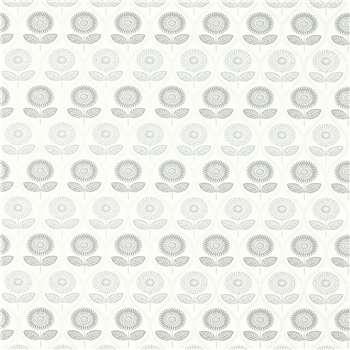 Sunflower Slate/Silver Wallpaper