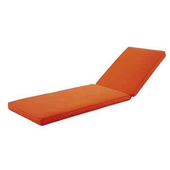 SUNNY Orange Sun Lounger Cushion (H58 x W196cm)