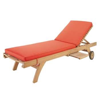 SUNNY Red sun lounger mattress (7 x 196cm)