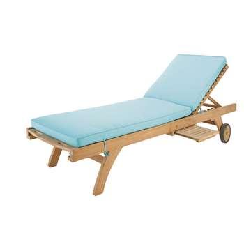 SUNNY Turquoise sun lounger mattress (7 x 196cm)