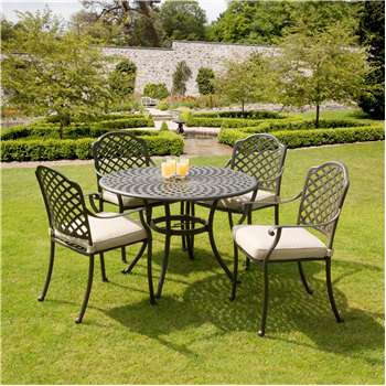 Suntime Buckingham Aluminium 4-Seater Dining Set
