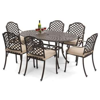 Suntime Buckingham Aluminium 6-Seater Dining Set
