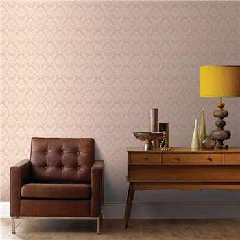 Superfresco Beige Damask Wallpaper