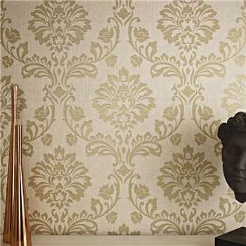 Superfresco Beigegold Aurora Wallpaper, Beige