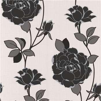 Superfresco Black Rosy Wallpaper