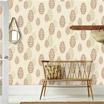 Superfresco Burnt Orange Lucy Wallpaper