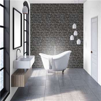 Superfresco Easy - Black Industrial Style Brick effect Wallpaper