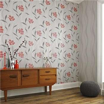 Superfresco Grey Elise Wallpaper