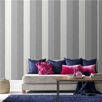 Superfresco Grey Java Stripe Wallpaper