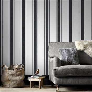 Superfresco Grey & Silver Orla Wallpaper