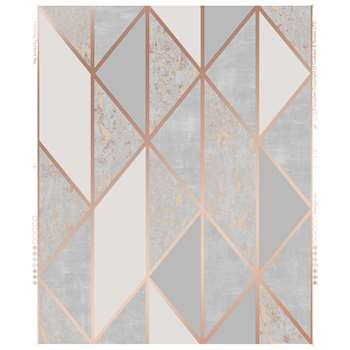 Superfresco Milan Rose Gold Geometric Wallpaper (H1000 x W52cm)