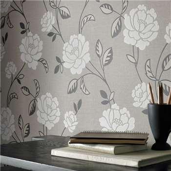 Superfresco Mushroom Fleur Wallpaper, Ivory
