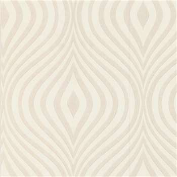 Superfresco Paintables White Curvy Wallpaper