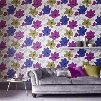 Superfresco Pink Superflora Wallpaper