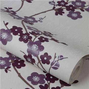 Superfresco Purple Cherry Blossom Wallpaper
