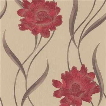Superfresco Red Poppy Wallpaper