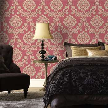 Superfresco Redgold Aurora Wallpaper, Red