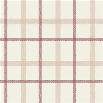 Superfresco Russet Plaid Wallpaper, Red
