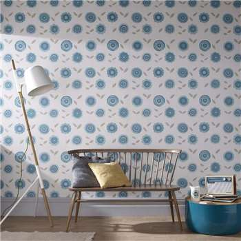 Superfresco Teal Radiance Wallpaper, Blue