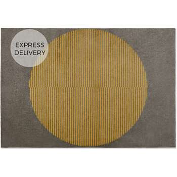 Sura Low Pile Rug, Large, Yellow (H160 x W230cm)