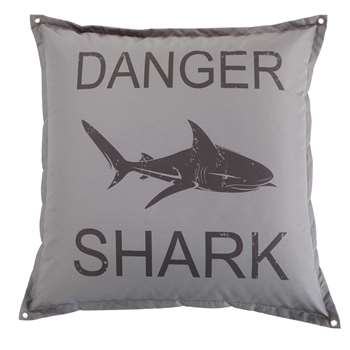 SURFING Grey Shark Print Pouffe (100 x 100cm)