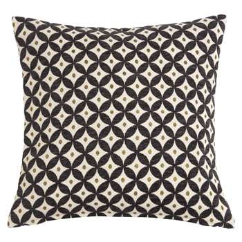 SUTTON Black and Ecru Jacquard Design Cushion (45 x 45cm)