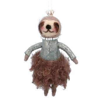 Suzie Sloth in Dress Decoration (H15 x W9 x D6cm)
