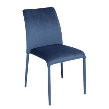 Svelte dining chair blue velvet (83 x 41cm)