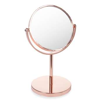 SWAGGY COPPER table mirror in copper-effect (31 x 19cm)