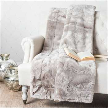 SWART faux fur blanket in grey (150 x 180cm)