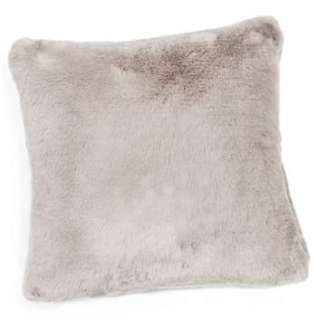 SWART faux fur cushion in grey (45 x 45cm)