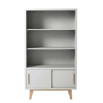 SWEET Grey wooden bookcase (166 x 93cm)