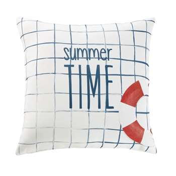 SWIM White Outdoor Cushion with Print (H45 x W45 x D10cm)